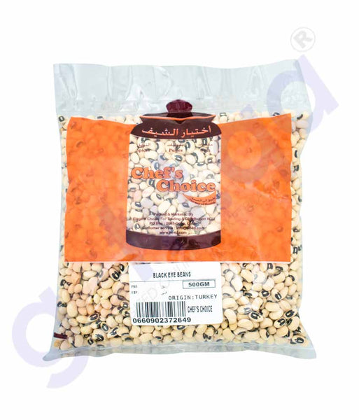 GETIT.QA | Buy Chef's Choice Black Eye Beans 500gm Online Doha Qatar