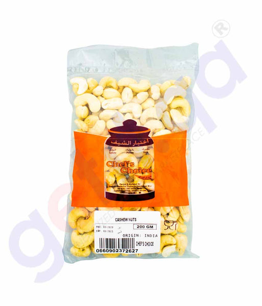 GETIT.QA | Buy Chef's Choice Cashew Nuts 200gm Price Online Doha Qatar