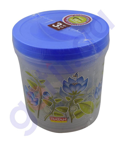 RATAN CRYSTAL CONTAINER (3PCS)