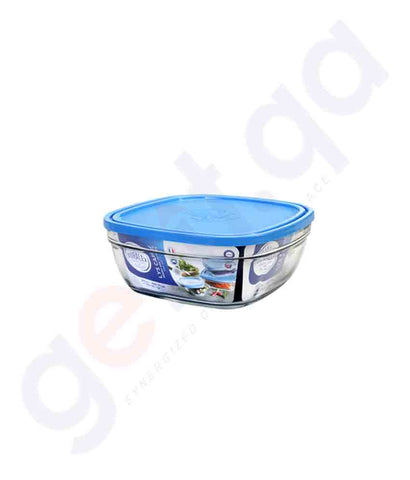 Buy Duralex Freshbox Square with Blue Lid 14cm in Doha Qatar