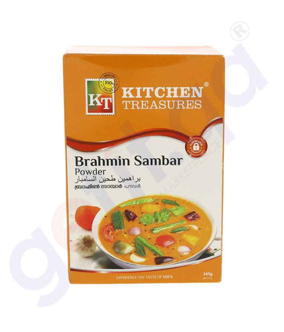 Buy Kitchen Treasures Brahmins Sambar Masala 160g Doha Qatar