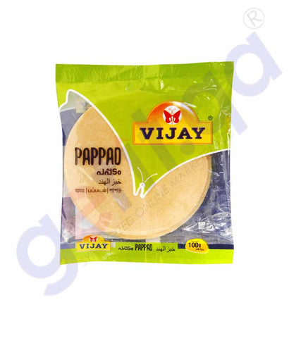 Buy Vijay Papad 100gm at Best Price Online in Doha Qatar