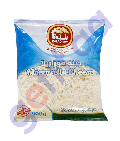 Buy Baladna Shredded Full Fat Mozzarella Cheese 900g Doha Qatar