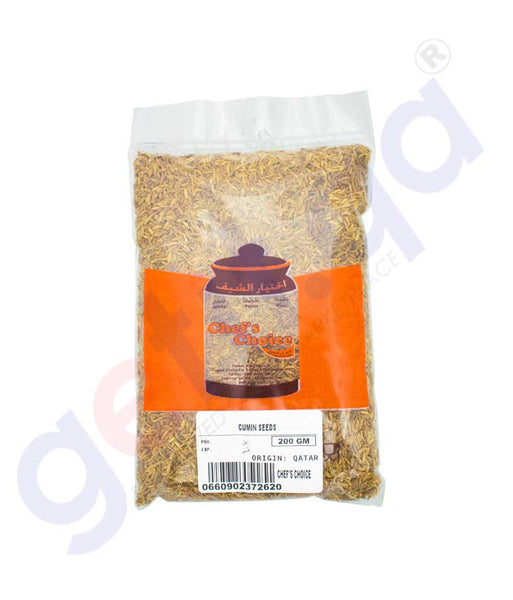 Buy Chef's Choice Cumin Seed 200gm Price Online Doha Qatar
