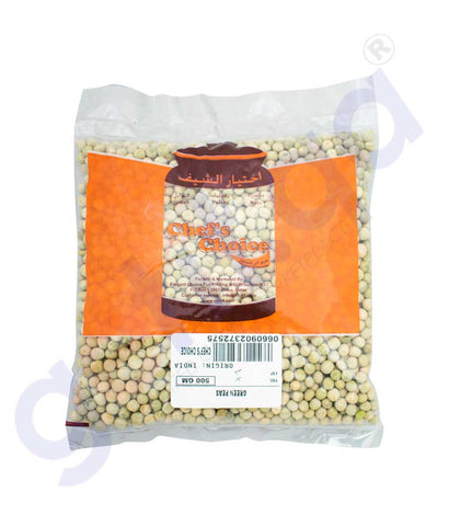 GETIT.QA | Buy Chef's Choice Green Peas 500gm Price Online Doha Qatar