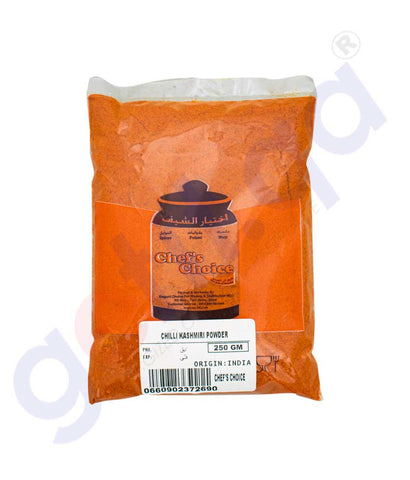 Buy Chef's Choice Kashmiri Chilli Powder 250gm Doha Qatar