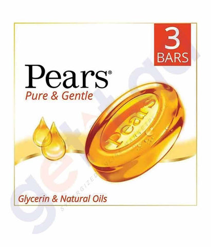 PEARS SOAP PURE & GENTLE 3PACK AMBER 125GM