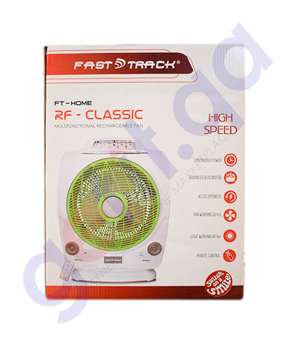 FAST TRACK CLASSIC RECHARGEABLE FAN FT-RCG