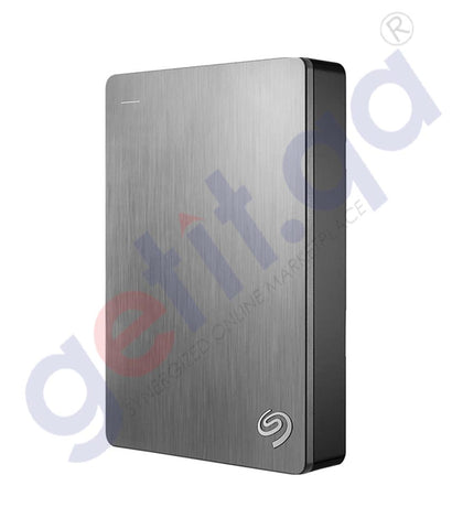 GETIT.QA | Buy Seagate Backup Plus 4TB Portable Silver HDD Doha Qatar