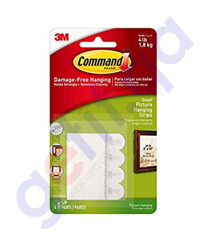 Buy 3M Command Medium Picture Hanging Strips in Doha Qatar