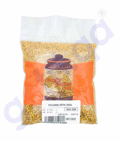 GETIT.QA | Buy Chef's Choice Fenugreek Methi Seed Uluva 200g Doha Qatar