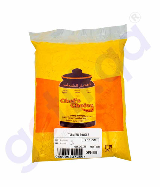GETIT.QA | Buy Chef's Choice Turmeric Powder 250gm Online Doha Qatar