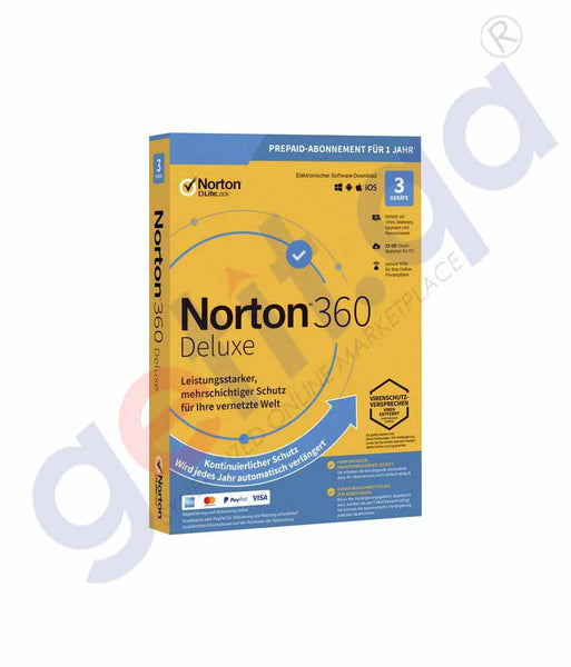 GETIT.QA | Buy Norton 360 Deluxe 25GB AR 3-User Online in Doha Qatar