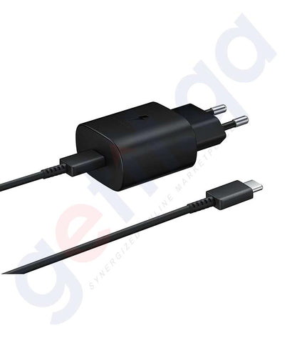 Buy Samsung Travel Adaptor Type-C Black Online in Doha Qatar