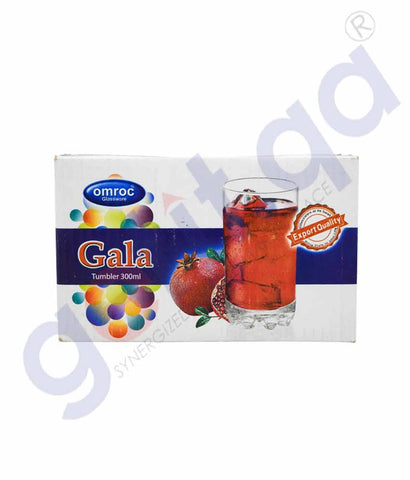 GALA TUMBLER GLASS 300 ML 6 PIECES