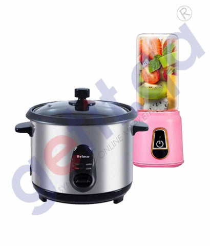 Buy Belaco Rice Cooker+Portable Juicer Online in Doha Qatar