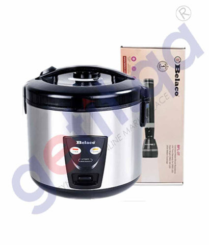 Buy Belaco Rice Cooker 1.8L+ Flashlight Online Doha Qatar
