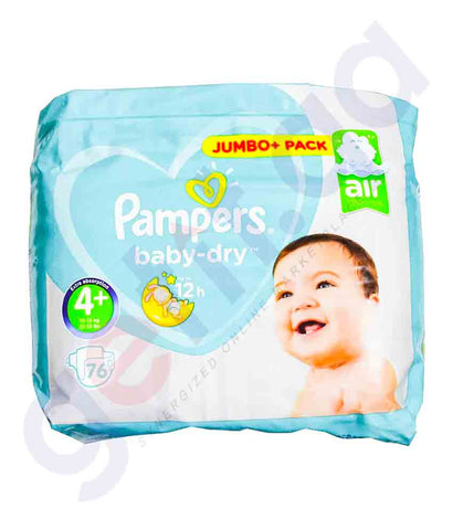 PAMPERS JUMBO PACK- 10-15 KG - 76 PCS