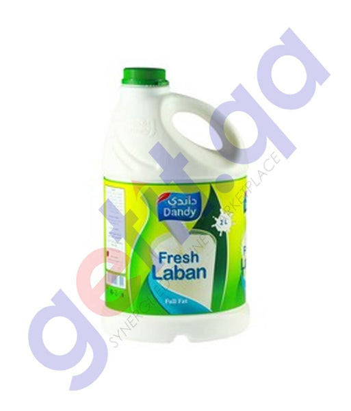 Buy Dandy Fresh Laban Full fat 2L Price Online Doha Qatar