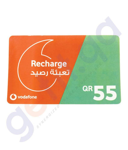 SHOP FOR VODAFONE RECHARGE VOUCHER 55 ONLINE IN QATAR