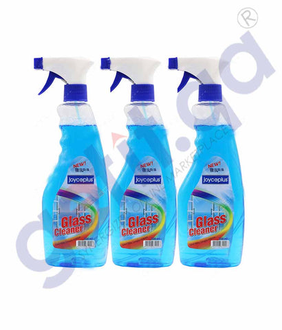 GETIT.QA | Buy Joyceplus Glass Cleaner 500ml 3pcs Price in Doha Qatar