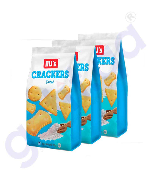 GETIT.QA | Buy MJ's Crackers Salted Jobelo Foods  3x90gm Doha Qatar