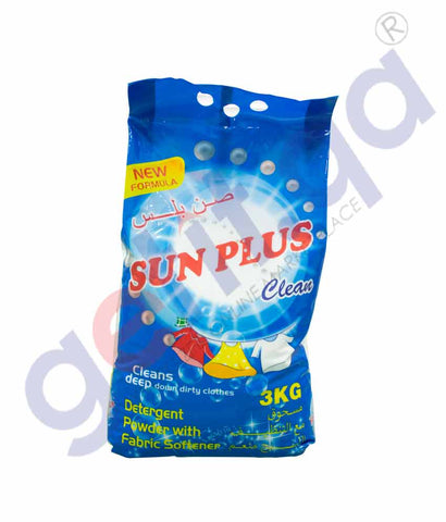 GETIT.QA | Buy Sun Plus Detergent Powder 3kg Price Online Doha Qatar