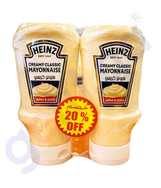 Buy Heinz Creamy Classic Mayonnaise 2x400ml in Doha Qatar