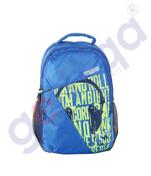 GETIT.QA | Buy American Tourister Tango I BP with Pencil Case Classic Blue Doha Qatar