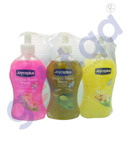 GETIT.QA | Buy Joyceplus Handwash Liquid 500ml 3Pcs Pack in Doha Qatar