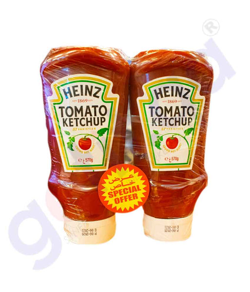 Buy Heinz Tomato Ketchup 2x570gm Price Online in Doha Qatar