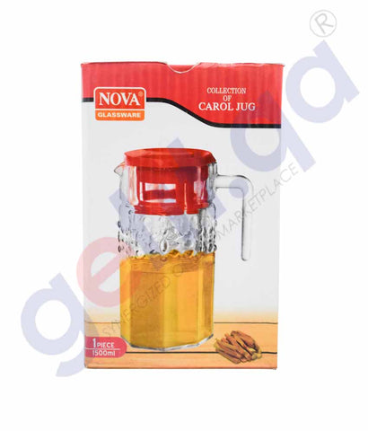 Buy Nova 1.5L Carol Star Jug 1Pc Price Online in Doha Qatar