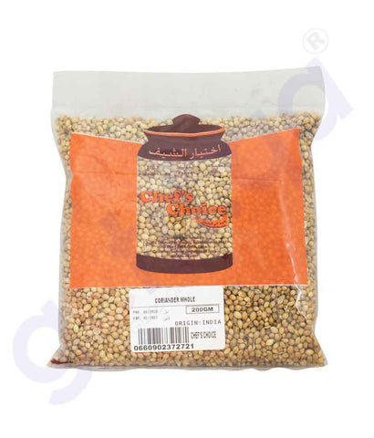 Buy Chef's Choice Coriander Whole 200g Online in Doha Qatar