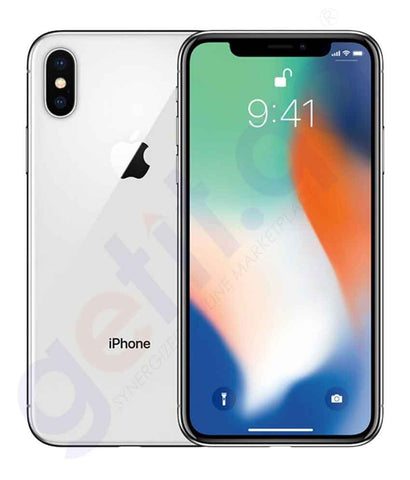 Apple iPhone X – 3GB RAM, 64GB, 4G LTE, Silver