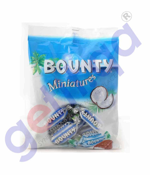 GETIT.QA | Buy Bounty Miniatures Chocolate Mini Bars 150gm Doha Qatar