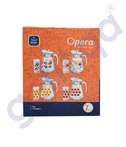 Buy Opera Water Set(1+6) Seamless Red Online in Doha Qatar