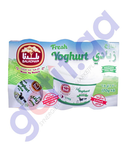 Buy Baladna Yoghurt Full Fat 6x170g Price Online Doha Qatar
