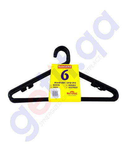 NATIONAL PLASTIC HANGER 6 PCS SET