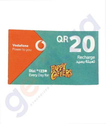 SHOP FOR VODAFONE RECHARGE VOUCHER 20 ONLINE IN QATAR