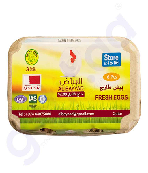 GETIT.QA | Buy Al Bayyad Fresh Egg 6pcs Best Price Online Doha Qatar
