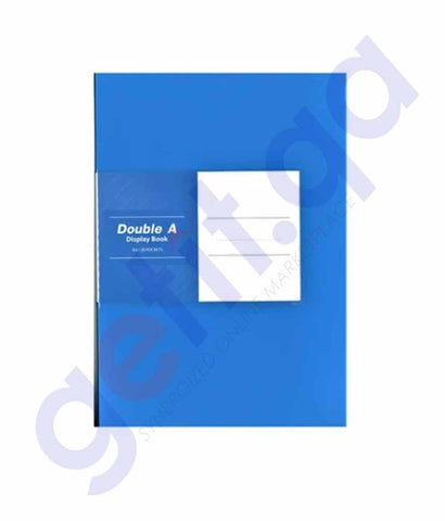 Double A display book Blue 40 pockets