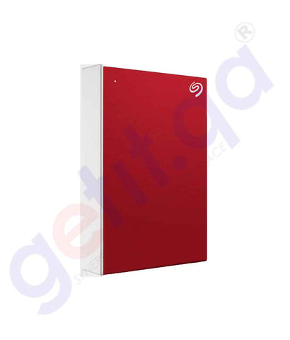 Buy Seagate HDD One Touch Portable 4TB Red in Doha Qatar