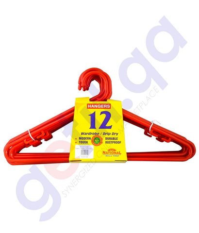 NATIONAL CLOTH HANGER 12PCS
