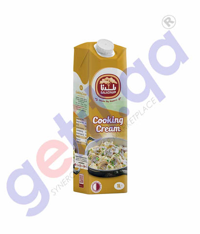 GETIT.QA | Buy Baladna Cooking Cream Long Life 1L Online in Doha Qatar