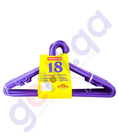 NATIONAL CLOTH HANGER 18PCS