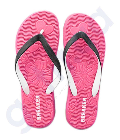 Buy Breaker Ladies Slipper SRF18L513 Pink Online in Doha Qatar