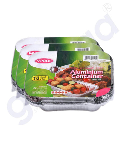 Buy V-Pack Aluminium Container A1120 10pc Online Doha Qatar
