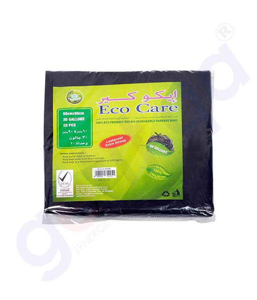 Buy Eco Care Black HD Garbage Bag Sheet 60x90cm Doha Qatar