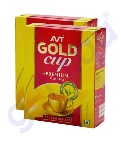 Buy AVT Gold Cup Premium Dust Tea 400gmx2pcs in Doha Qatar