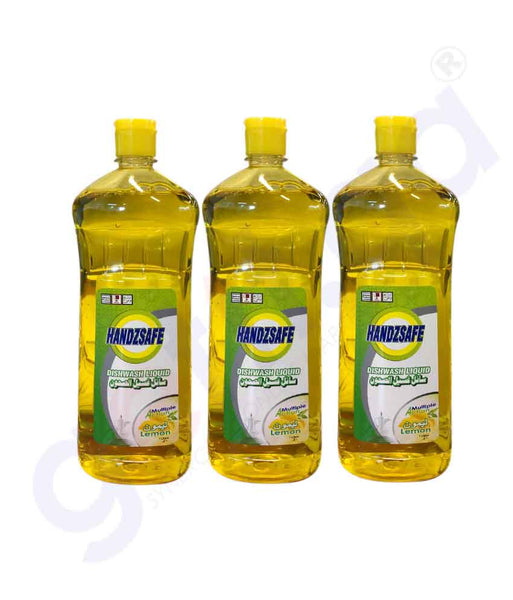 Buy Handzsafe Dish Wash Lemon 1000mlx3pcs Price Doha Qatar
